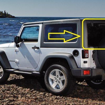 jeep wrangler vidro da tampa